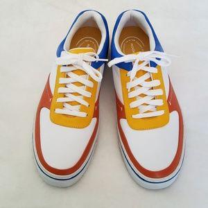 Rockport Daron Leather orange blue sneakers